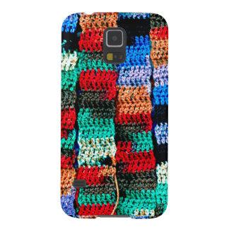 Samsungの銀河系S5の箱のかぎ針編みの一見 Galaxy S5 ケース