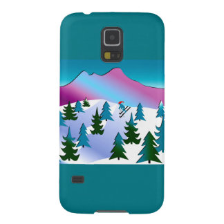 Samsungの銀河系S5の箱のスキー斜面の芸術 Galaxy S5 ケース
