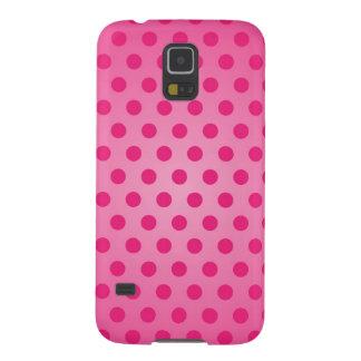Samsungの銀河系S5の箱のピンクの水玉模様 Galaxy S5 ケース