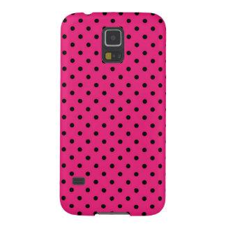 Samsungの銀河系S5の箱のピンクの黒の水玉模様 Galaxy S5 ケース