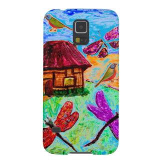 Samsungの銀河系S5の箱の想像力に富む民芸 Galaxy S5 ケース
