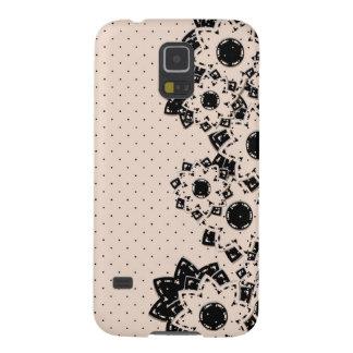 Samsungの銀河系S5の箱の水玉模様および花 Galaxy S5 ケース