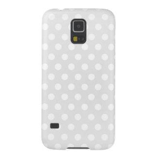 Samsungの銀河系S5の箱の白の水玉模様 Galaxy S5 ケース