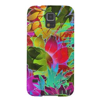 Samsungの銀河系S5の箱の花柄の抽象芸術のアートワーク Galaxy S5 ケース