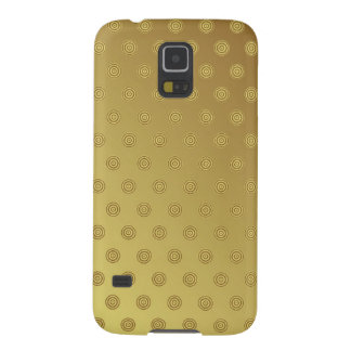 Samsungの銀河系S5の箱の金ゴールドの水玉模様 Galaxy S5 ケース