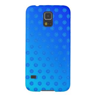 Samsungの銀河系S5の箱の青の水玉模様 Galaxy S5 ケース