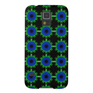 Samsungの銀河系S5の箱の青緑の星 Galaxy S5 ケース