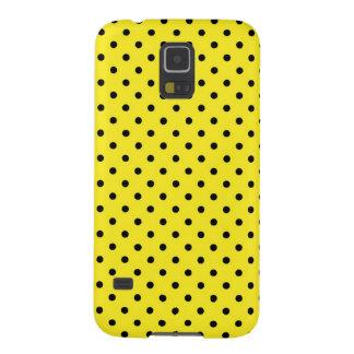 Samsungの銀河系S5の箱の黄色の水玉模様 Galaxy S5 ケース
