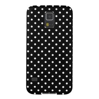 Samsungの銀河系S5の箱の黒の水玉模様 Galaxy S5 ケース