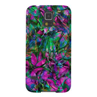 Samsungの銀河系S5の花柄の抽象芸術のステンドグラス Galaxy S5 ケース