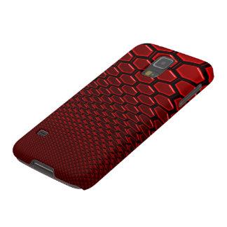 Samsungの銀河系S5の金属赤3Dの六芒星の金属 Galaxy S5 ケース