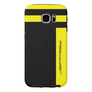 Samsungの銀河系S6の堅い箱の黄色か黒いストライプ Samsung Galaxy S6 ケース