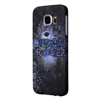 "Samsungの銀河系S6の""黒のバラ""の例 Samsung Galaxy S6 ケース"