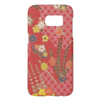 Samsungの銀河系S7の日本のなピンクの花の電話箱 Samsung Galaxy S7 ケース