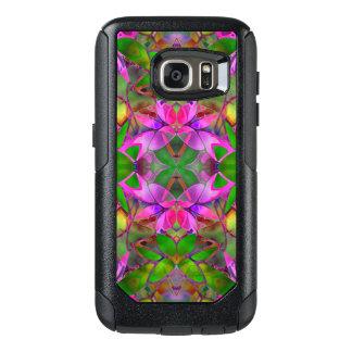 Samsungの銀河系S7の箱の花のフラクタルの芸術 オッターボックスSamsung Galaxy S7ケース