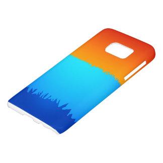 Samsungの銀河系S7の青かオレンジ箱 Samsung Galaxy S7 ケース
