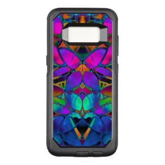 Samsungの銀河系S8の箱の花のフラクタルの芸術 オッターボックスコミューターSamsung Galaxy S8 ケース