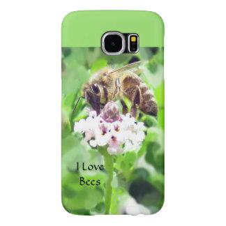 Samsungは場合-花の蜜蜂--に電話をかけます Samsung Galaxy S6 ケース
