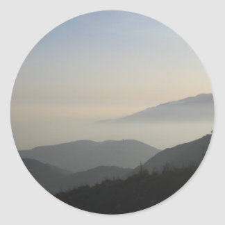 San Bernardino山の日没 ラウンドシール