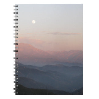 San Bernardino山のMoonrise ノートブック