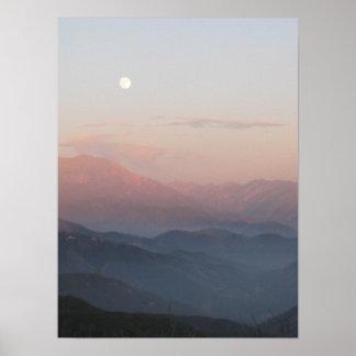 San Bernardino山のMoonrise ポスター