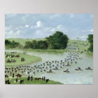 San Joaquin川、パラグアイ1865年の交差 ポスター