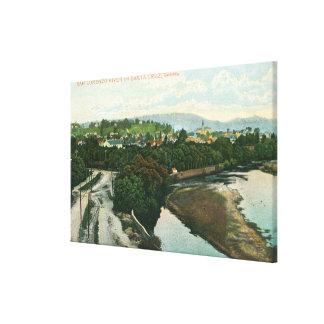 San Lorenzo川の空中写真 キャンバスプリント