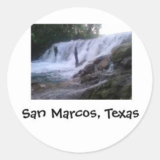 San Marcos川はステッカーのあたりで落ちます ラウンドシール