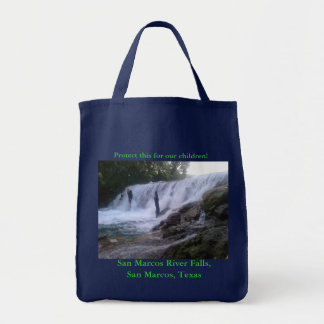 San Marcos川はトート食料雑貨の落ちます トートバッグ