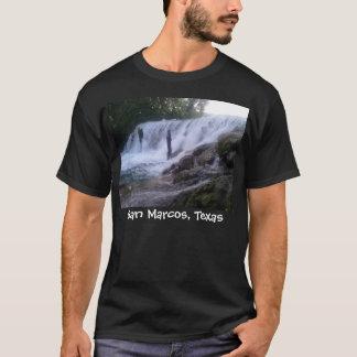 San Marcos川は黒いTシャツ落ちます Tシャツ