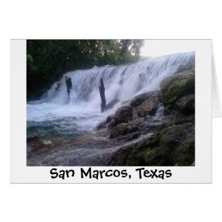 San Marcos川はNotecard落ちます カード
