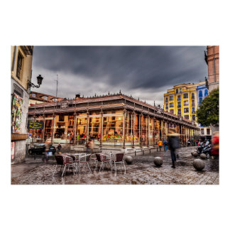 San Miguel market. Madrid, Spain ポスター