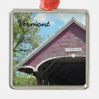 Sanbornの屋根付橋ヴァーモント メタルオーナメント