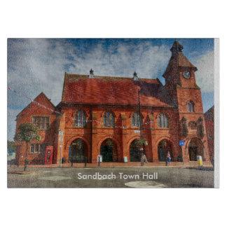"Sandbach市庁舎のガラスまな板11"" x 8"" カッティングボード"
