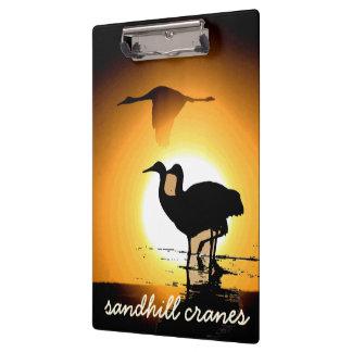 Sandhillクレーン鳥の野性生物動物のシルエット クリップボード