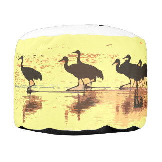 Sandhillクレーン鳥の野性生物動物のPoufの枕 プーフ