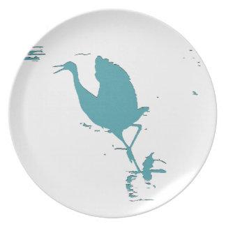 Sandhillクレーン鳥の野性生物動物 プレート