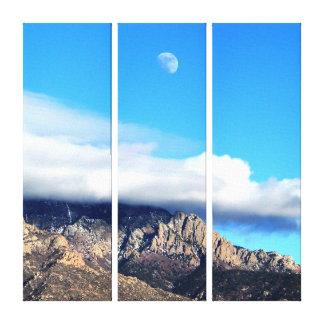 Sandias上の月そして雲 キャンバスプリント