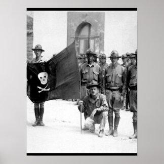 Sandinoの旗。  ニカラグア1932年。  (海兵隊の) _ ポスター