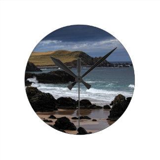 Sango湾、サザランド、スコットランド ラウンド壁時計