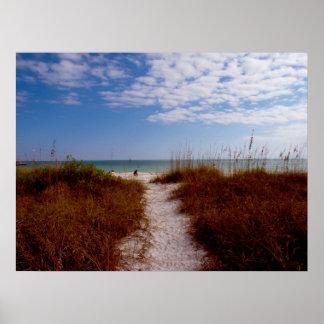 Sanibelのビーチ ポスター