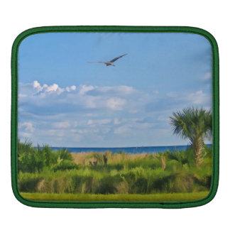 Sanibelの島のビーチのiPadの袖 iPadスリーブ