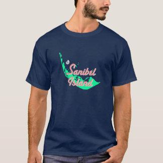 Sanibelの島の地図の輪郭のデザイン Tシャツ