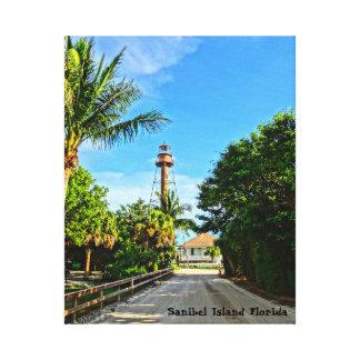 Sanibelの島の灯台フロリダ湾海岸 キャンバスプリント