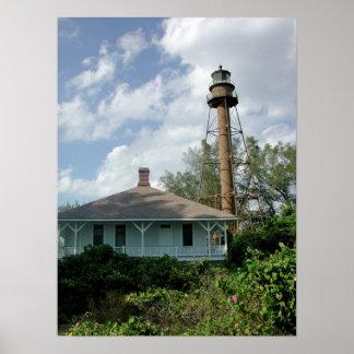 Sanibelの島の灯台 ポスター