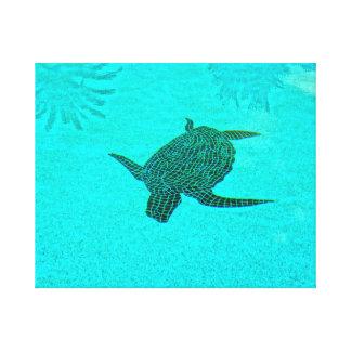 Sanibelの島フロリダのTortugaのカメのモザイク キャンバスプリント