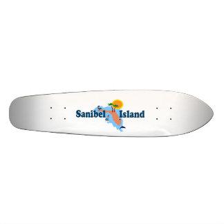 Sanibelの島 20cm スケートボードデッキ