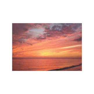Sanibelの島、FLの日没場面 キャンバスプリント