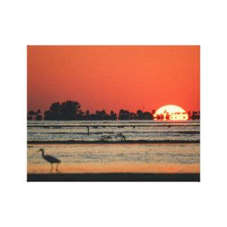 Sanibel上のフロリダの日没 キャンバスプリント