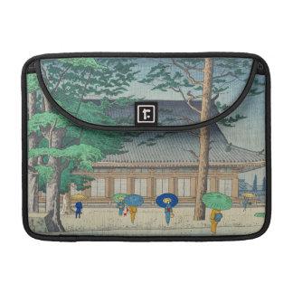 Sanjusangendoの寺院の芸術のAsano Takeji雨 MacBook Pro用スリーブ